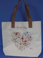 Brand New Fannie Mae Candy Large Flowered Heart Canvas Tote Bag Purse