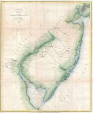 1873 Coastal Survey map Chart New Jersey and the Delaware Bay