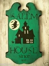 Primitive Halloween Sign SALEM HOUSE Since 1692 Witch