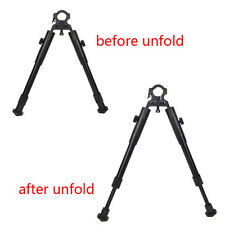 "New Clamp-on 8""-10"" Spring Stand low profile Bipod Hunting Airsoft Air Rifle Gun"