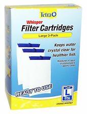 x3 Tetra Whisper FILTER CARTRIDGES L LARGE ULTRA ACTIVATED CARBON 20-40 30-60 G