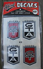 NOS Vintage GT GTA #620 Official Decals by Wallfrin Permanent Wont Fade or Chip