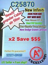 25870x2 CABIN AIR FILTER For Town & Country GRAND CARAVAN EX35 QX70 GT-R ROUTAN