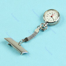 NEW Fob Brooch Pendant Hanging Pocket Quartz Watch Fobwatch Nurse Pin Clip