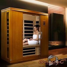 Dynamic 3 Person Far Infrared Sauna (Madrid II Edition), 9 Carbon Heating Panels