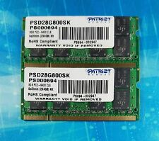 8GB (2x4GB) PC2-6400s DDR2 800MHz SoDimm 200pin Patriot Memory PSD28G800SK