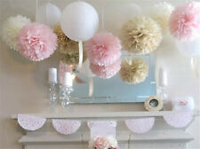 20pcs Wedding BrithdayParty Home Outdoor Decor Tissue Paper Pom Poms Flower Ball