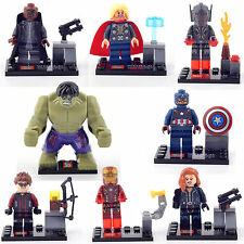 AVENGERS HULK THOR IRON MAN Figures 8 FIG/LOT Minifigures Building Bricks F lego