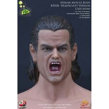 1/6 Scale Kaustic Plastik Screaming Head Sculpt - Kopf Actionfigur Figur KP02 B