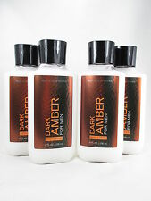 Bath Body Works 4 Dark Amber for Men Body Lotion 8oz Shea Butter Aloe Vitamin E