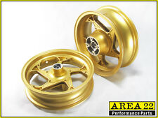Area 22 2014 2015 Honda MSX125 Grom Type 1 Custom Wide Mag Wheels Rims Gold