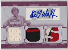 2006-07 Topps Triple Threads BILL WALTON Auto Patch Printing Plate Card #d 1/1