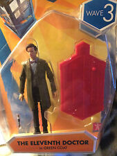 Doctor who wave 3, 11th  doctor  in green coat 3.75 inch figure