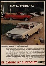 1965 CHEVROLET EL CAMINO White & Red Car - Truck - Pickup - Car - VINTAGE AD