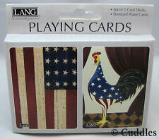 Grand Old Flag Cards Rooster Stars Standard Poker2 Decks Card Lang Game NEW