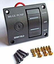 Marine bilge pump switch SEAWORLD 3 way 12v illuminated   10-10714