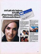 PUBLICITE ADVERTISING 015 1968 CARTE BLEUE uine bonne affaire