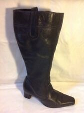 Ann Harvey Black Knee High Leather Boots Size 39