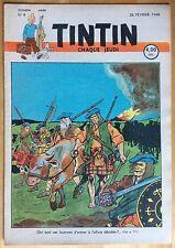 TINTIN Édition belge fascicule n°9 du 26 février 1948 Excellent état