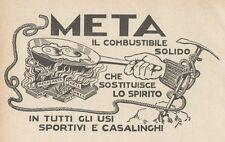 Z1887 META il combustibile solido - Pubblicità d'epoca - 1929 Old advertising