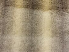 LUXURY Faux Fur Animal Brown Beige Ombre Craft Fabric Material