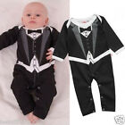 Baby Boy Funky Tuxedo Bodysuit Babygrow Outfit Christening Wedding Formal Party