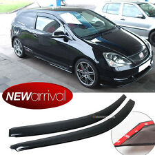 For 02-05 Civic SI EP3 Dark Smoke Silm UV Window Visor Vent Shade Sun Rain Guard