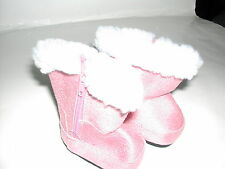 Pink American Fashion Doll Clothes Boots Shoes for 18 inch Dolls
