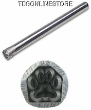 JEWELERS OR METAL WORKER DESIGN STAMP PAW PRINT #81