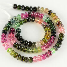 "5.5MM-5.8MM Pink Blue Green Tourmaline Smooth Rondelle Beads 15"" Strand"