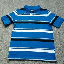 Wrangler Boys&Teens Striped Polo Shirts.100% COTTON. Size 8 YEARS. BRAND NEW.