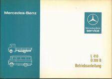 BUS MERCEDES L 410 / O 309 B Betriebsanleitung 1983 Bedienungsanleitung 309 BA