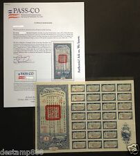 China 1942 Victory Bond $10000 SPECIMEN with Pass-Co Certificate