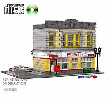 CD Modular Post Office Lego Custom Instructions cafe, city 10182, corner, Mail