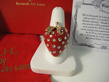 KJL Kenneth Lane Big RED Strawberry Ring NEW~BOXED - Fabulous!  SIZE 9