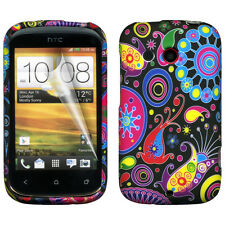 Multi Colour Jellyfish Design Gel Silicone Case Cover for HTC Desire C (A320e)