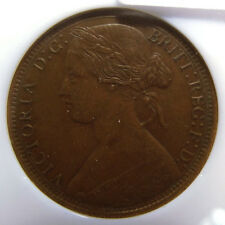 1873 Great Britain 1 Penny Slabbed Au 58