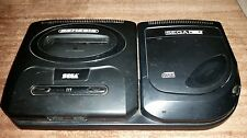 SEGA GENESIS AND CD COMBO BOTH MODEL 2 BLACK ONLY NON-WORKING READ