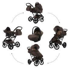 Knorr Baby Voletto Star 3in1 Kombi-Kinderwagen Set BRAUN mit Autositz 3312-2
