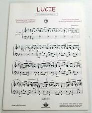 Partition sheet music PASCAL OBISPO : Lucie * 90's Piano