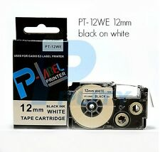 Casio XR-12WE Compatible Black on White 12mm 8m Label Tape KL60 120 130 7400 820
