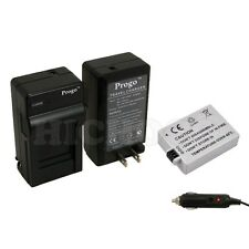 Battery + Charger Kit for Canon EOS 450D 1000D Rebel XS XSi T1i LP-E5, USA Ship