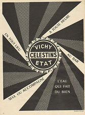 Publicité Advertising 1953  VICHY CELESTINS ETAT  l'eau qui fait du bien !