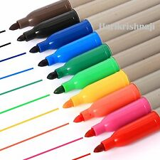 20 x BRANDED PERMANENT MARKER PENS ASSORTED COLOURS FINE POINT TIP Sharpie Mixed