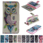 For Apple iPhone Card Holder Flip Stand Leather Wallet Case Cover Printed Pouch