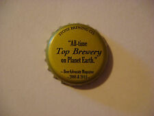 """BEER Bottle Crown Cap ~ STONE Brewing """"Top Brewery on Planet Earth"""" BeerAdvocate"""