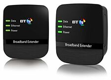 Kit Extensor BT Wi-Fi hotspot 500 Adaptador PowerLine Kit De Inicio Pack de 2 en Negro
