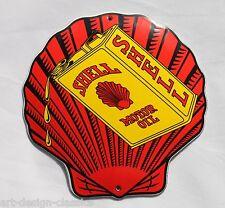 Shell - Motot Oil - 12x12 cm - Muschel - Emailschild - Türschild -Emaille Schild