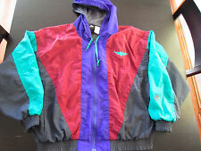 Vintage Men's 1990s Nike Flight Air Jordan Jacket With Hood Size Large