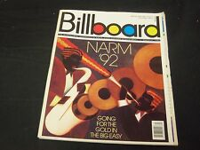 1992 MARCH 21 BILLBOARD MAGAZINE - GREAT MUSIC ISSUE & VERY NICE ADS - O 7279